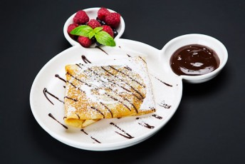 """Desertinis blynas su bananais ir """"Nutella"""""""